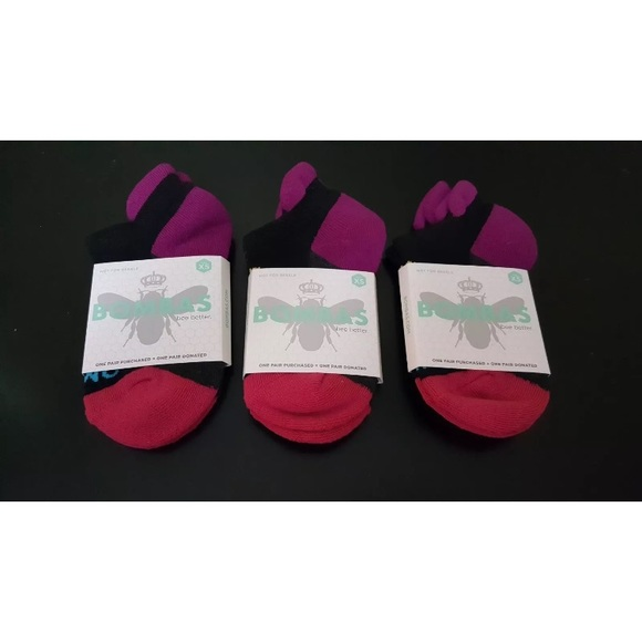 9036f87ea85 3 Pairs Of Bombas Bee Better Ankle Socks Black XS